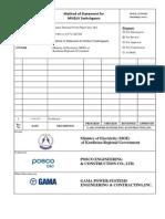 Method of Statement for MV&LV Switchgears