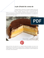 Boston Cream Pie y Tejidos
