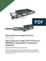 Huawei Microwave OptiX RTN 910