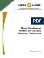 Model Standards of Prac for Cdn Pharmtechs