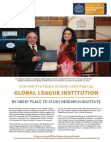 IFIM Institutions certified as Global League Institute in London, UK