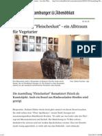 Ausstellung _Fleischeslust_ - Ein Albtraum Für Vegetarier -JANA STERBAK Aus Aller Welt - Hamburger Abendblatt