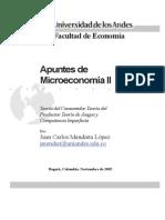 Apuntes de Microeconomía II de Juan Carlos Mendieta