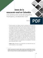 Contribuciones de La Educación Rural en Colombia