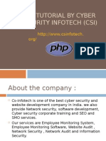 Php Tutorial by Cyber Security Infotech(Csi)