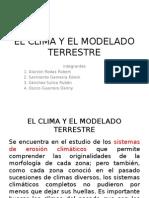 El Clima y El Modelado Terrestre Ppt