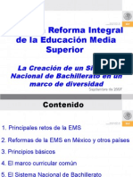 LA REFORMA INTEGRAL DE LA EDUCACION MEDIA SUPERIOR