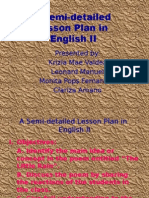 A Semi Detailed lesson plan in english