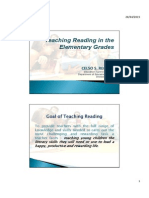 Handout - Teaching Reading in the Elementary Grades