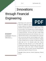 ابتكار المنتج من خلال الهندسة مالية