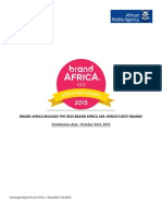 Coverage Report Brand Africa - November 3rd 2015