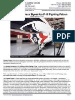 General Dynamics F-16 Fighting Falcon—Tech Sheet