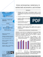 Inter-enterprise relations in selected economic activities