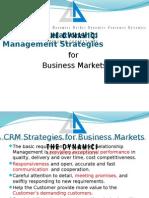 CRM Strategies for B2B Markets