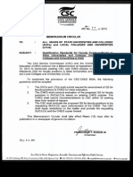 CSC Memo 17 s2013 - Qualification Standards for Faculty Positions - SUCs and LCUs
