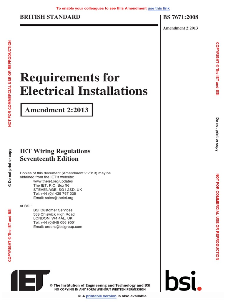 Wiring Regs 17th Edition