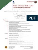 """Stato di diritto, tutela dei diritti sociali e crisi delle finanze pubbliche"""""""