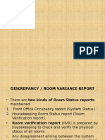 Discrepancy Report