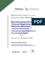 Wattegama 2005 Benchmarking NRAs