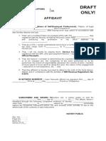 Affidavit - Draft Only