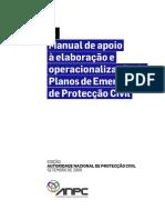 Manual de Apoio à Elaboração e Operacionalização de Planos de Emergência de Protecção Civil