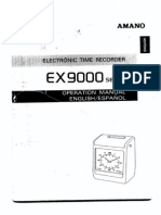 Amano EX-9600 User Manual