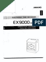 Amano EX-9600 User Manual