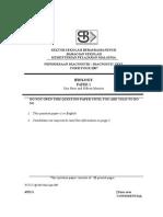 Bio Paper 1 Form 4 Final SBP 2007