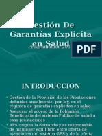 Gestión de Garantías Explicita en Salud DCS PROG DRA BUÑAY