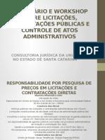 Responsabilidade Por Pesquisa de Precos Em Licitacoes e Contratacoes Diretas