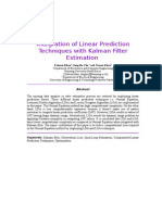 Linear PredictionLinear Prediction in Kalman Filter Paper in Kalman Filter Paper