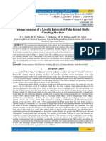 Design Analysis of a Locally Fabricated Palm Kernel Shells Grinding Machine