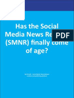 Has the Social Media News Release Come Finally of Age ?