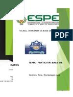 Particiones Bases de Datos