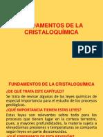 Fundamentos de La Cristaloquímica