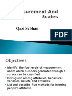 Measurement and Scale 2014