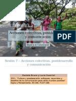 Acciones Colectivas, Postdesarrollo y Comunicacion