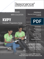 KVPY 2015 Interview Preparatory Guide