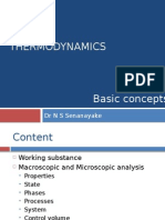 Thermodynamics Basic Concepts