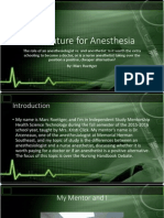 the future for anesthesia