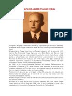 Biografía de Javier Pulgar Vidal