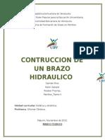 Estatica y Dinamica...Informe...Brazo Hidraulico.