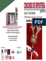 Cartel del X Concurso de Repostería convocado por las Bibliotecas municipales de Huesca
