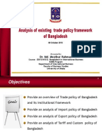2. Analysis of Existing Trade Policy Framework of Bangladesh