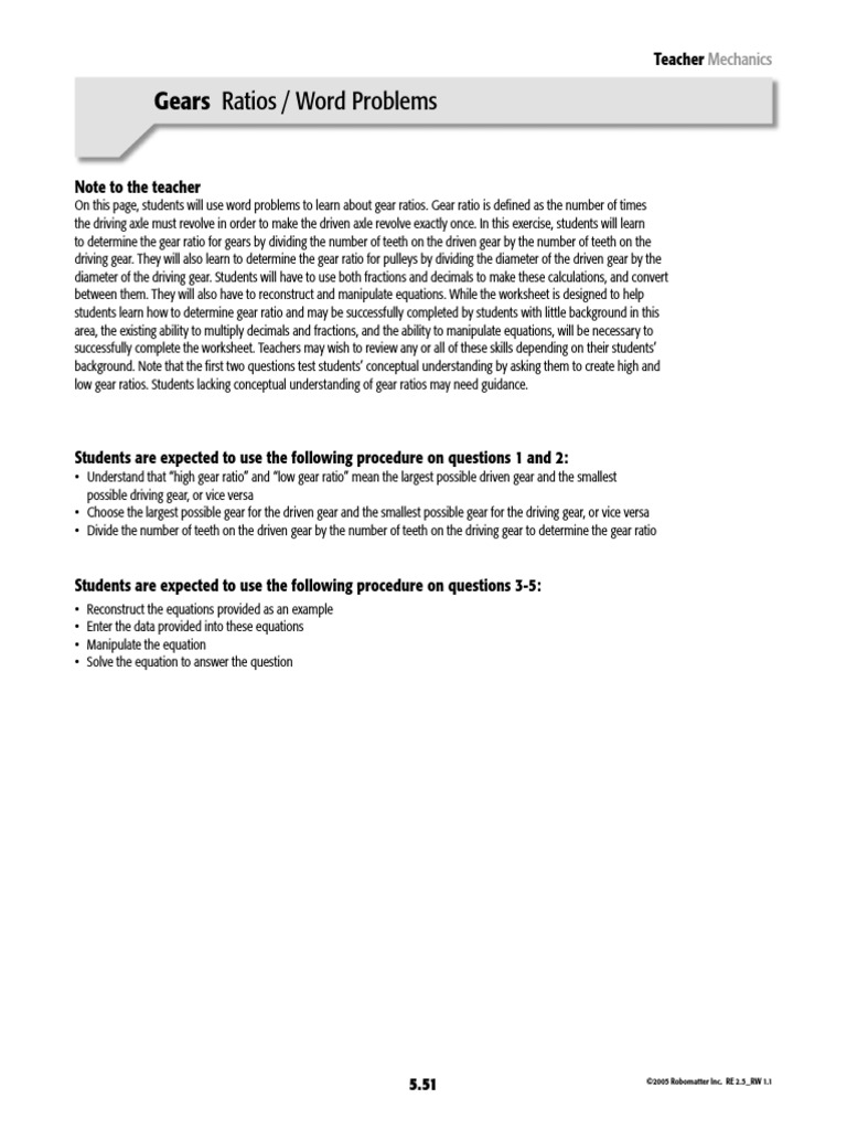 worksheet Gear Ratio Worksheet Luizah Worksheet And Essay Site – Gear Ratio Worksheet