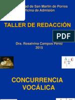 Concurrencia Vocálica 2015