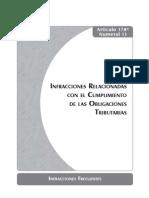 Infracciones Relacionadas Con El Cumplimiento de Las Obligaciones Tributarias