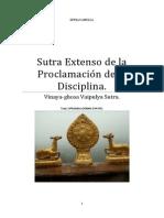 Sutra Extenso de La Proclamación de La Disciplina.