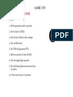 Game Goal Sheet USV
