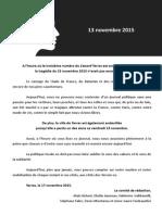 Le Canard'Yerres n°3 - novembre 2015